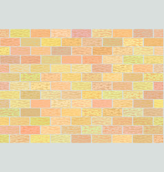 Fragment of brick walls in different shades vector