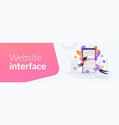 front end development it web banner concept vector image