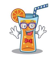 Geek cocktail character cartoon style vector