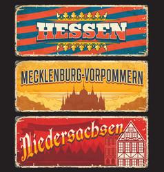 Germany hessen mecklenburg niedersachsen signs vector
