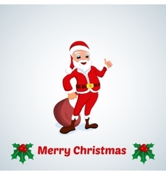 Greeting Cards Merry Christmas with Santa vector image