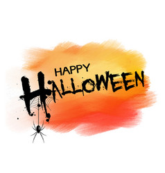 Halloween background with spider vector