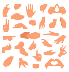 hand gesture pointing hands gesturing vector image