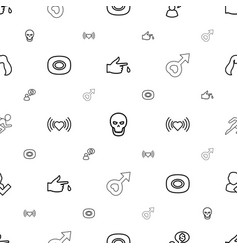 Human icons pattern seamless white background vector