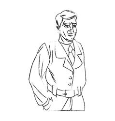 Inspector man cartoon design vector image