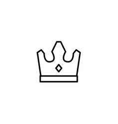 king crown icon vector image
