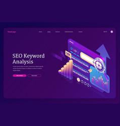 Landing page seo keyword analysis vector