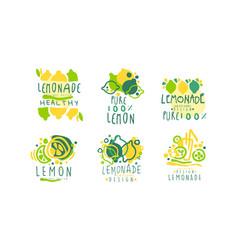 Lemonade logo templates original design healthy vector