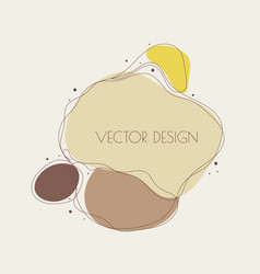 Liquid organic color form vector
