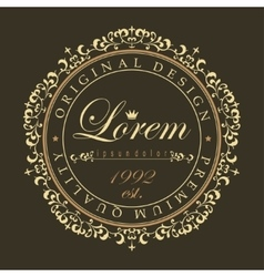 Luxury round ornament vector