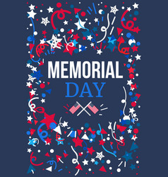 memorial day banner vector image