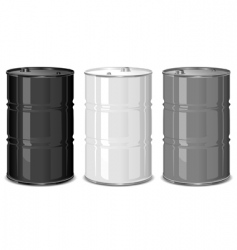 metal barrels vector image