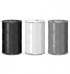 Metal barrels vector