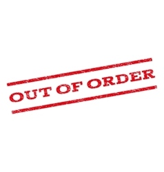 Out Of Order Watermark Stamp vector image