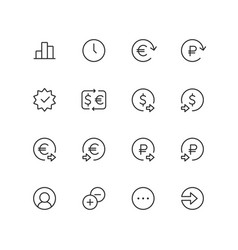 outline ecommerce finance icons for web vector image