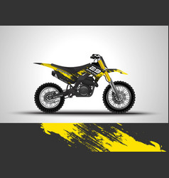 racing motorcycle wrap decal and vinyl sticker vector image
