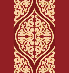 Red and beige pattern vector