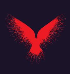 red blots raven vector image