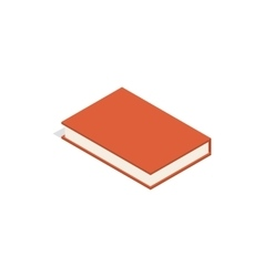 Red book icon isometric 3d style vector