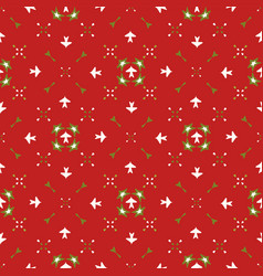 red festive star snow flake lattice winter vector image