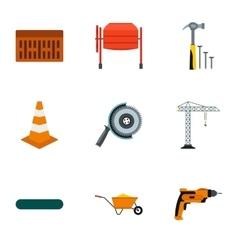Repair icons set flat style vector