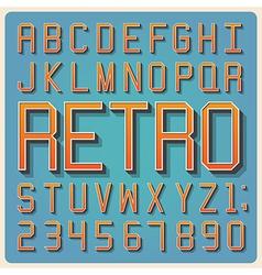 Retro type font vintage typography vector image