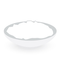 Rice bowl isolated on white background vector
