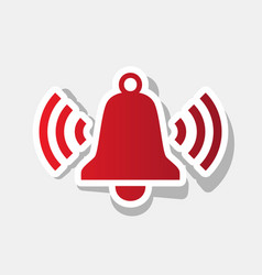 ringing bell icon new year reddish icon vector image