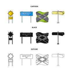 Road signs and other web icon in cartoonblack vector