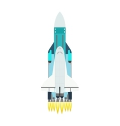 rocket isolated on white vector image