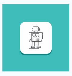 Round button for autonomous machine robot robotic vector