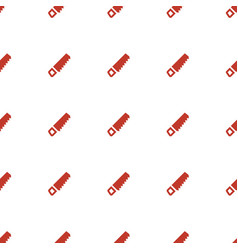 Saw icon pattern seamless white background vector