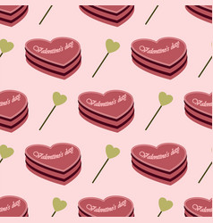 seamless pattern consisting of cake and hearts vector image