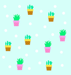seamless tileable texture with cactus vector image