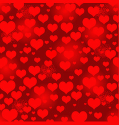 seamless vivid red valentine pattern with heart vector image