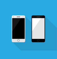 Smartphone black and white color vector