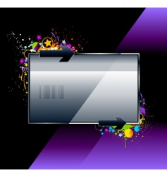 Splash glossy banner vector