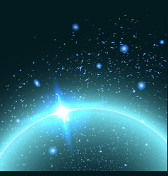 star sky abstract background vector image