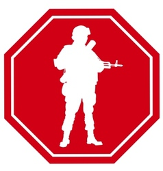 Stop war sign vector