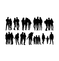 student and family activity silhouettes vector image