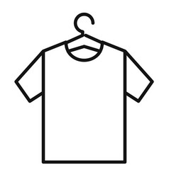Tshirt on hanger icon outline style vector