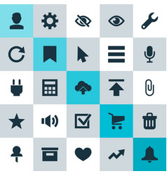 User icons set collection of wrench options vector