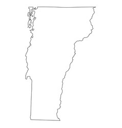 vermont vt state border usa map outline vector image