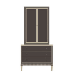 wardrobe closet cupboard furniture isolated vector image