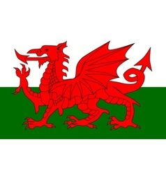Welsh Dragon Flag vector