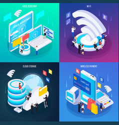 wireless technology isometric concept vector image