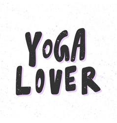 Yoga lover sticker for social media content vector