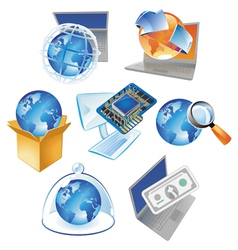 Concepts for technology vector image vector image
