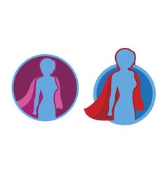 Female Superhero icon - silhouette vector image vector image