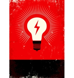 Light poster vector image vector image